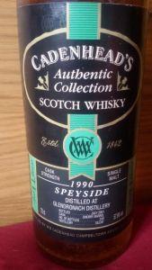 Glendronach 1990/2001 (Cadenhead's, 2001, 57,9%)