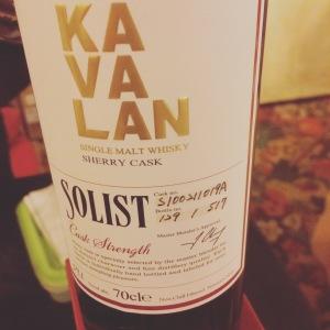 Kavalan Solist Sherry (OB, 2015, 57,7%) Cask S100711019A
